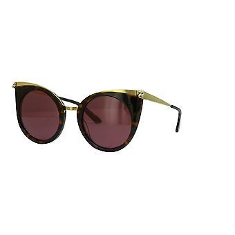 Cartier Panthère de Cartier CT0122S 002 Havana/Red Sunglasses