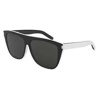 Saint Laurent SL 1 019 Black-White/Grey Sunglasses