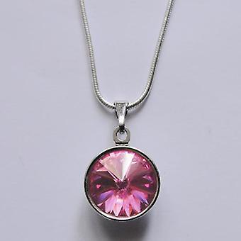 Кулон ожерелье с розовый кристалл PMB 2.1