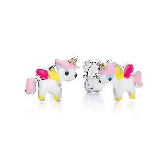 David Deyong Children's Sterling Silver Unicorn Stud Earrings