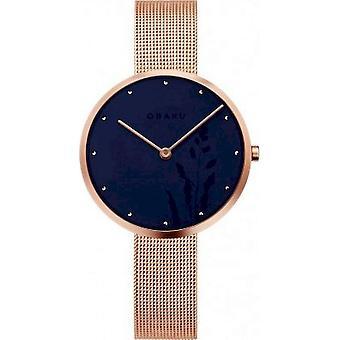 OBAKU - Wristwatch - Women - HASSEL NATUR-AZURE - V219LXVAMV