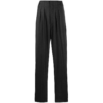 Isabel Marant Pa155920p011i01bk Women's Black Wool Pants