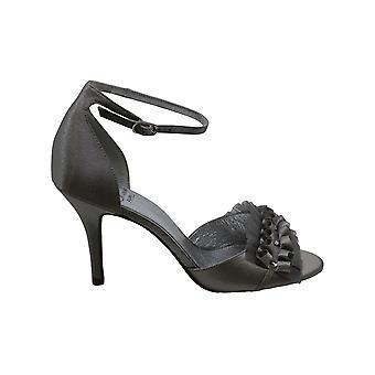 Women's Adrianna Papell Alcott Chiffon Ruffle Sandal, Size 7 M - Metallic