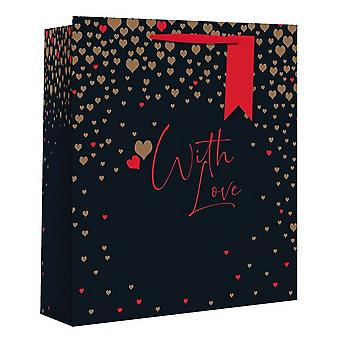 Eurowrap Valentines With Love Gift Bags (Pack Of 12)