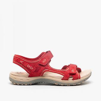 Earth Spirit Frisco Ladies Suede Sandals Cardinal Red