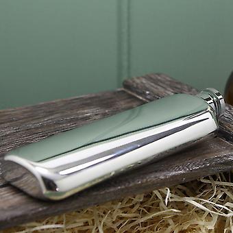 Plain Pewter Top Pocket Hip Flask - 3oz