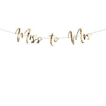 Rose Gold Mirror Miss to Mrs Banner - Hen Party Decoration