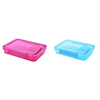 Clic-Tite 1.1L Rectangular Trio Sandwich Box