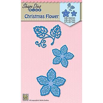 Nellie's Choice Shape Die Christmas blomst SDB060 88x73mm