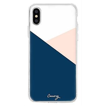 The Casery Colour Block iPhone X/XS Case - White/Pink/Blue
