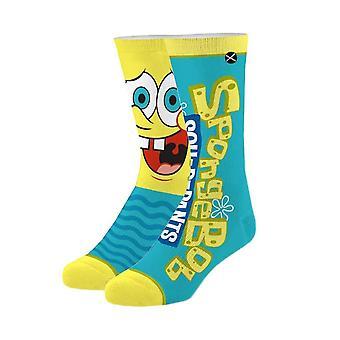 SpongeBob Squarepants Big Face Sublimated 360 Crew Socks