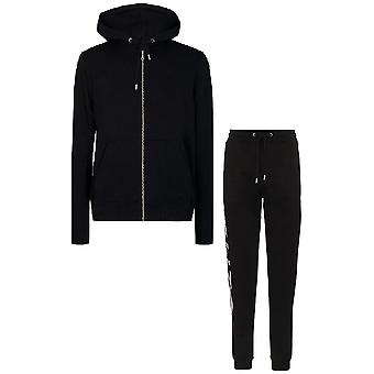 Kenzo Sport Classic Logo Zip Hooded Black Tracksuit
