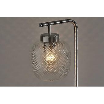 Brushed Steel Metal Dotty Desk Lamp