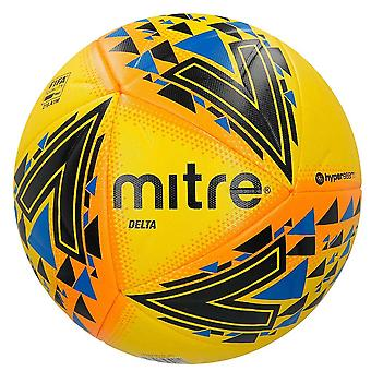 Mitre Delta FIFA Quality Match Football Soccer Ball Yellow/Black/Blue