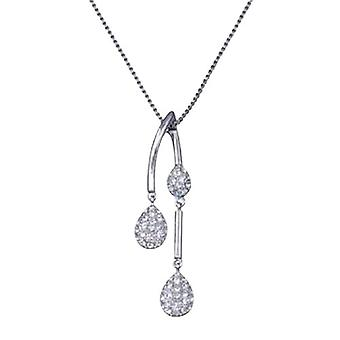 "Annaleece Drop Crystals Pendant  on 16""+ Chain"