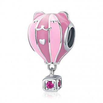 Sterling Silber Charm Rosa Ballon - 6415