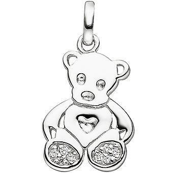 الاطفال قلادة تيدي تيدي الدب 925 الاسترليني الفضة 8 Zirconia الاطفال قلادة