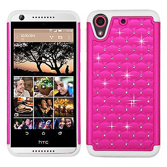 ASMYNA FullStar Case for HTC Desire 555/650/530/626S/626 - Hot Pink/Solid White