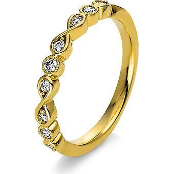 Anel de Diamante - 18K 750/- Ouro Amarelo - 0,17 ct. - 1I487G853 - Largura do anel: 53