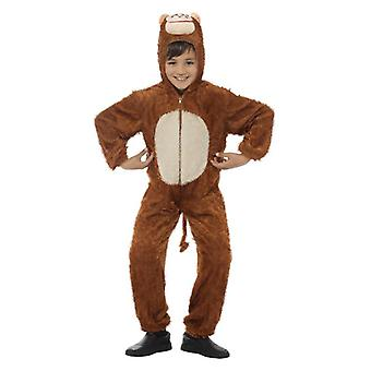 Childrens Monkey Ape Fancy kjole kostyme