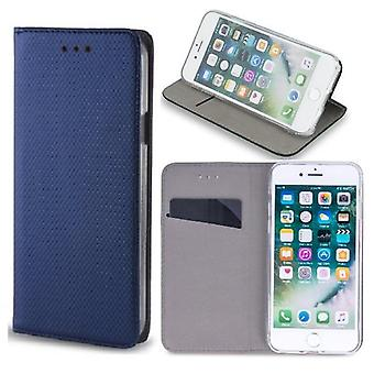 iPhone 11-Smart magnet flip case mobil tegnebog-navy blå