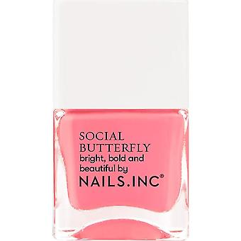 Nails inc Social Butterfly Nail Polish Collection - Fight Or Flight 14ml