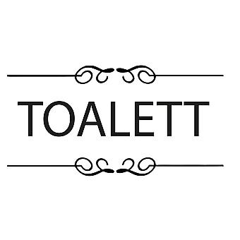 Wall décor | 2-Pack Toilet Plate | Myriad Font