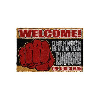 Official One Punch Man One Knock Door Mat