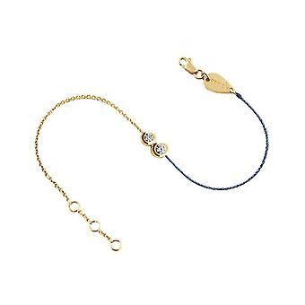 Armband Duo Halbfaden 18K Gold und Diamanten - Gelbgold, BlueJean