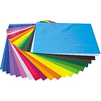 Multicoloured Tissue Paper – 20 Sheets, 1 of Each Colour
