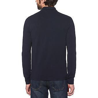 Original Penguin Long Sleeve Polo Shirt Navy 42