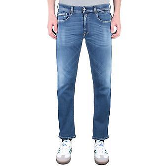 Replay Grover Straight Fit 11.5 Oz Hyperflex Light Blue Wash Denim Jeans