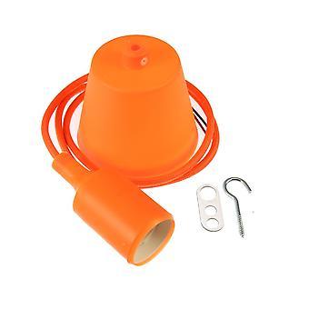 Jandei Anhänger Anhänger Basis, Kabel und orange Td Halter E27