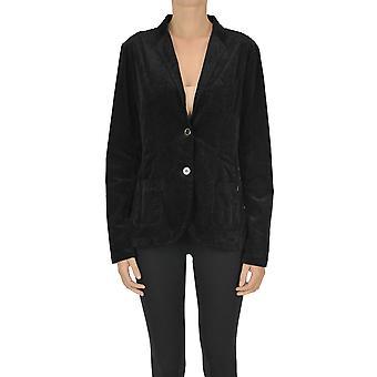 Mason's Ezgl303027 Mujeres's Blazer de Algodón Negro