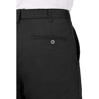 Chef Works Men's Basic Chef Pant, Zwart, 50