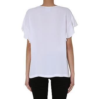 Boutique Moschino 020108371001 Women's White Viscose T-shirt