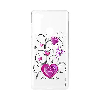 Hull For Xiaomi Redmi Note 8 Flexible Heart And Butterfly