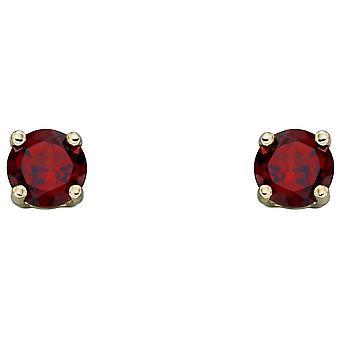 Elements Gold Janvier Birthstone Stud Boucles d'oreilles - Rouge /Or