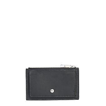 Bottega Veneta 609294vcpp38803 Women's Black Leather Card Holder