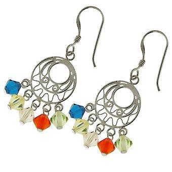 Silver With Chandelier Style Dangle Earrings