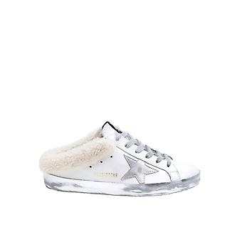 Golden Goose Gwf00110f00016810224 Women's Silver Leather Sneakers