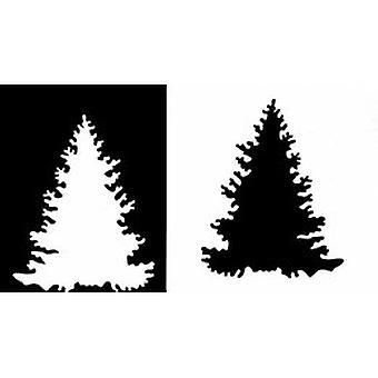 IndigoBlu Fir Tree 6x6 Inch Stencil