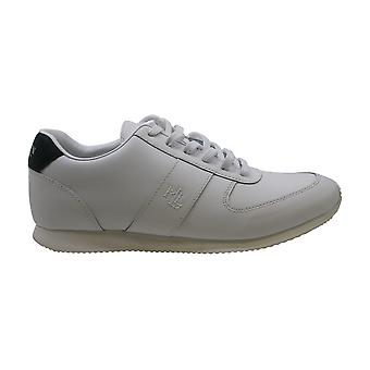 Ralph Lauren Womens Cate Leather Low Top Lace Up Fashion Sneakers