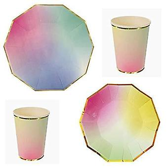 Polka dot sky multi kolorowe jednorożec stylu urodziny party zastawa stołowa pack 8 pack (24szt)Polka dot sky multi colored unicorn style birthday party tableware pack 8 pack (24pcs) Polka dot sky multi colored unicorn style birthday party tableware pack 8 pack (24pc