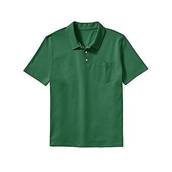 Essentials Erkek & amp; Uzun Jersey Polo Gömlek, -Hunter Green, 4XLT