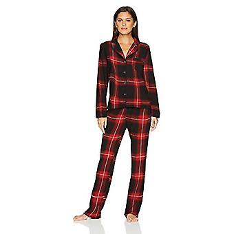 Marke - Mae Women's Kerbe Kragen Pyjama Set, FESTIVE PLAID, groß
