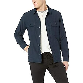 Goodthreads Men's Military Broken Twill Shirt Jacket, -navy, Medium Tall