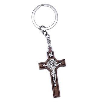 Christian Jesus Cross Religious Keychain Key Ring