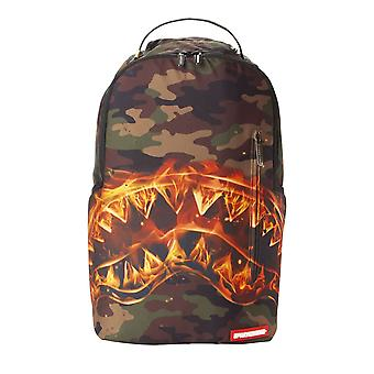 Sprayground Fire Shark Backpack