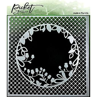 Picket Fence Studios kurkistaa Boo Flower Stencil